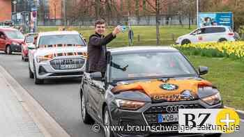 Beeindruckender Fan-Autokorso für die Grizzlys Wolfsburg