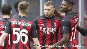 Serie A: Auch durch Tor von Rebic: Milan gewinnt 2:1