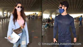 Disha Patani and Tiger Shroff fly out of Mumbai amid curfew