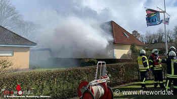 D: Carport-Schuppen-Komplex brennt in Heeslingen - Fireworld.at