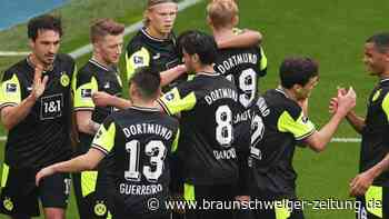 29. Spieltag: BVB schöpft Hoffnung: Haaland trifft doppelt gegen Bremen