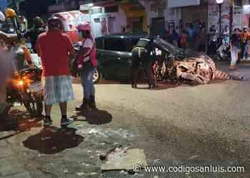 Persecución, balacera y choque; un muerto, un herido en Tamazunchale - Código San Luis
