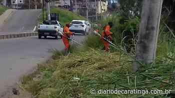 Dnit realiza limpeza no perímetro urbano da BR-116 - Diário de Caratinga