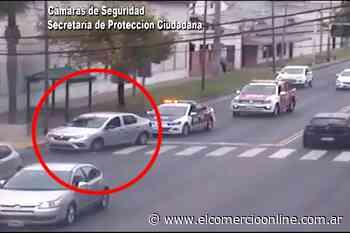 Impresionante choque durante una persecución en Don Torcuato - elcomercioonline.com.ar