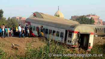Nearly 100 injured after passenger train derails in Egypt