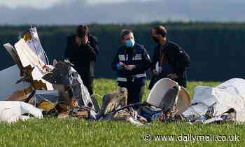 Four people die as light plane crashes into a field to the east of Paris 'during training flight'