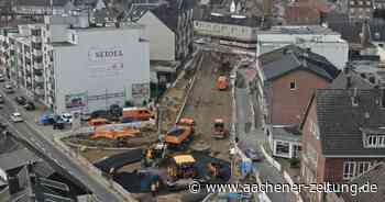 Bauprojekt in Baesweiler-Mitte: Neuer Busbahnhof nimmt Formen an - Aachener Zeitung