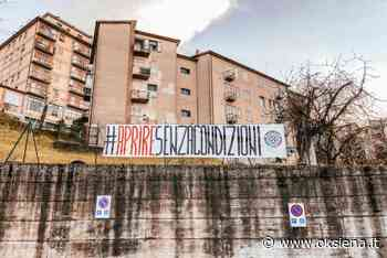 """CASAPOUND: """"#APRIRESENZACONDIZIONI"""", STRISCIONE A SIENA EA MONTEPULCIANO - oksiena.it"""