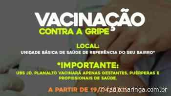 Em Marialva, Secretaria de Saúde divulga novas diretrizes e idades para a vacinação da gripe - Orlando Gonzalez