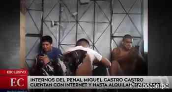 Trasladan a cárcel de Pasco a presos que usaban celular e internet en penal Miguel Castro Castro - El Bocón