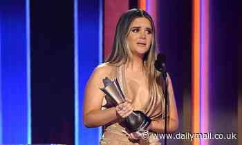 Maren Morris takes home Song of the Year for The Bones at the 56th Academy of Country Music Awards