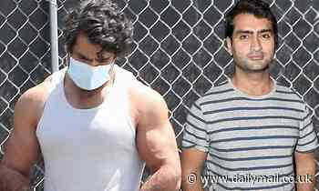 Kumail Nanjiani shows off shredded physique... as he prepares to shoot upcoming new Star Wars series