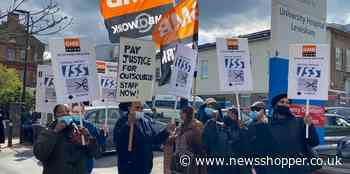 Covid: Lewisham hospital cleaners protest against hours cut - News Shopper