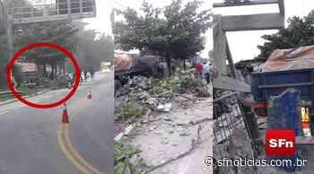 Carreta atinge imóvel às margens da RJ-116 em Bom Jardim; veja o vídeo - SF Notícias