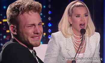American Idol: Katy Perry consoles sobbing Hunter Metts after he forgets lyrics on Oscars episode