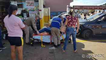 Motociclista fica ferido em acidente de trânsito na Avenida Papagaios no Bairro Floresta - CGN
