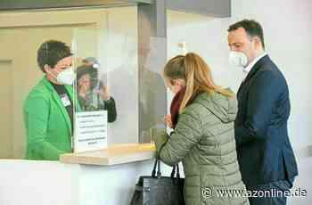 Bundesgesundheitsminister Jens Spahn besucht Impfzentrum in Velen und freut sich: 90 Prozent wollen sich impfen lassen - Allgemeine Zeitung