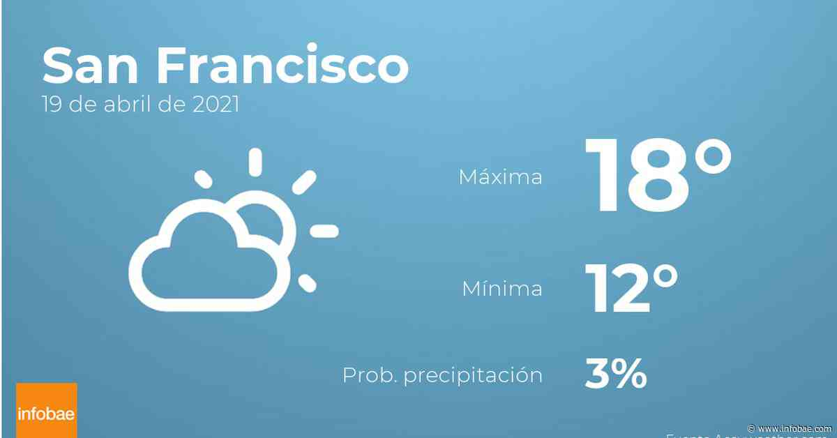Previsión meteorológica: El tiempo hoy en San Francisco, 19 de abril - infobae