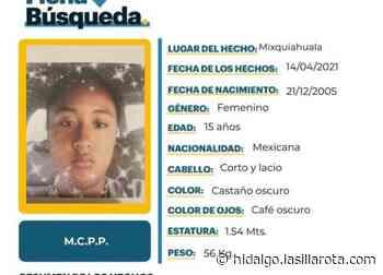 SE BUSCA | Adolescente de 15 años desaparece en Mixquiahuala - La Silla Rota