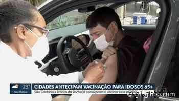 Prefeitura de São Caetano do Sul e Franco da Rocha antecipam vacinação para idosos com 65 e 66 anos - G1
