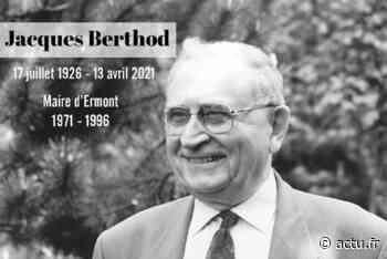 Val-d'Oise. Jacques Berthod, l'ancien maire d'Ermont, s'est éteint à l'âge de 95 ans - actu.fr