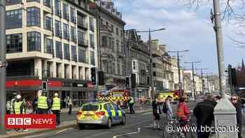 Fire crews tackle blaze at former Debenhams store in Edinburgh