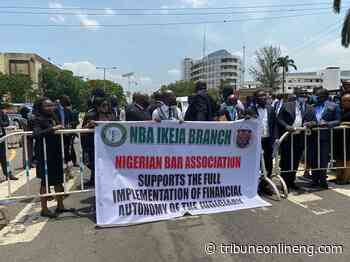NBA Ikeja protests to Lagos House, canvasses for Judiciary's financial autonomy - NIGERIAN TRIBUNE