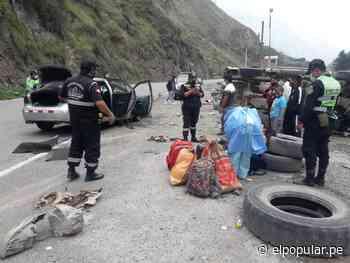Matucana: Accidente de tránsito en el kilómetro 77 de la Carretera Central deja 5 heridos graves [FOTOS] - ElPopular.pe