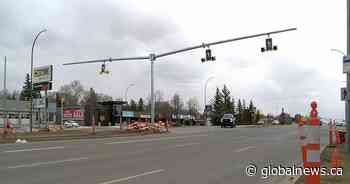 Crosswalk, street lights installed on Albert Street following death in November - Globalnews.ca