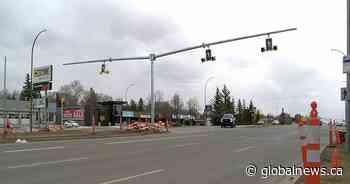 Crosswalk, street lights installed on Albert Street following death in November - Globalnews.ca