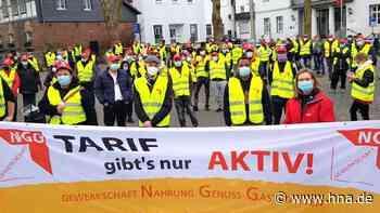 Lautstarker Protest im Chattengau: NGG fordert einheitlichen Mindestlohn - HNA.de