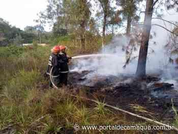 Corpo de Bombeiros Voluntários de Charqueadas atende dois incêndios florestais em menos de 4 horas - Portal de Camaquã