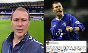 Everton hero Duncan Ferguson issues amusing 'blood-curdling' rant to young Toffees fan