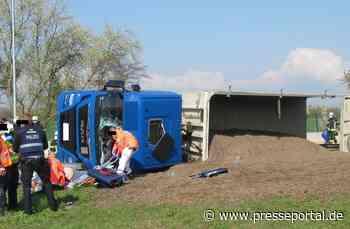 POL-VDMZ: Sattelzug umgekippt - Autobahnparkplatz über Stunden gesperrt