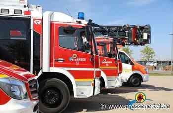 FW-MG: Brennendes Müllfahrzeug
