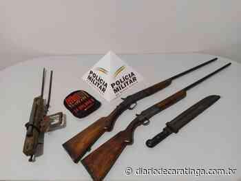 Idoso detido por porte ilegal de arma de fogo - Diário de Caratinga