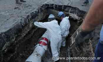 AySA reparó un escape de agua en el centro de Pilar - pilardetodos.com.ar