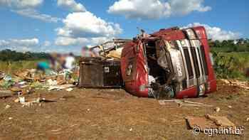Caminhão tomba e motorista fica ferido na BR-163 em Capanema - CGN