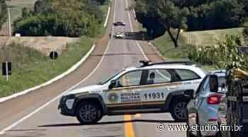 Suspeita de ataque a Carro Forte bloqueia rodovia entre Lagoa Vermelha e Caseiros - Rádio Studio 87.7 FM | Studio TV | Veranópolis