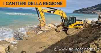 Piraino (ME). In corso il consolidamento del litorale Calanovella - Sicilia Oggi Notizie