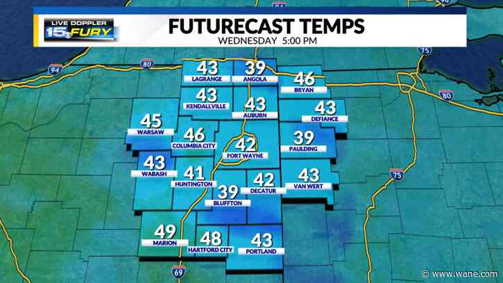Accumulating snow ends, hard freeze Wed and Thu mornings