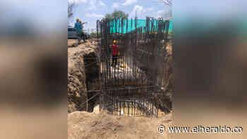 En Galapa avanzan obras de la estación de bombeo - EL HERALDO