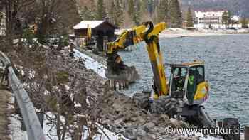 Jachenau: Ufer rutscht ab, Bagger rücken an: Straße am Walchensee wird gesichert - Merkur Online