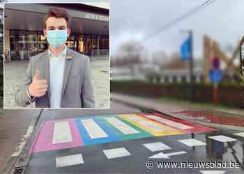 """Oppositie vraagt en krijgt regenboogzebrapaden: """"Een zeer krachtig signaal"""" - Het Nieuwsblad"""