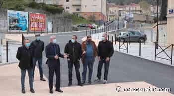 Corte : le chantier de l'avenue Jean-Nicoli est enfin terminé - Corse-Matin