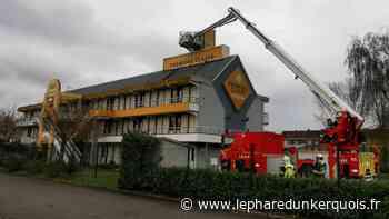 Saint-Pol-sur-Mer : le chapeau de l'enseigne d'un hôtel menace de s'effondrer - Le Phare dunkerquois