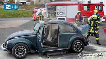 Wilnsdorf: 50 Jahre alter VW Käfer gerät bei Check in Brand - Westfalenpost