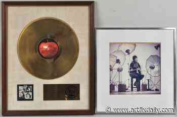 Schwenke Auctioneers April 25th Spring Sale Features Paul McCartney's Gold Record Award - ArtfixDaily