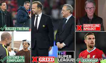 The winners and losers of the European Super League SHAMBLES