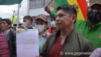 Lluta afirma que no irán a elecciones y pide destitución de Cruz «por ser ilegal» - Diario Pagina Siete